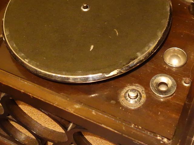 【骨董】アンティーク*昭和レトロ*五輪柄のユニークな蓄音機*蓄音器_画像8