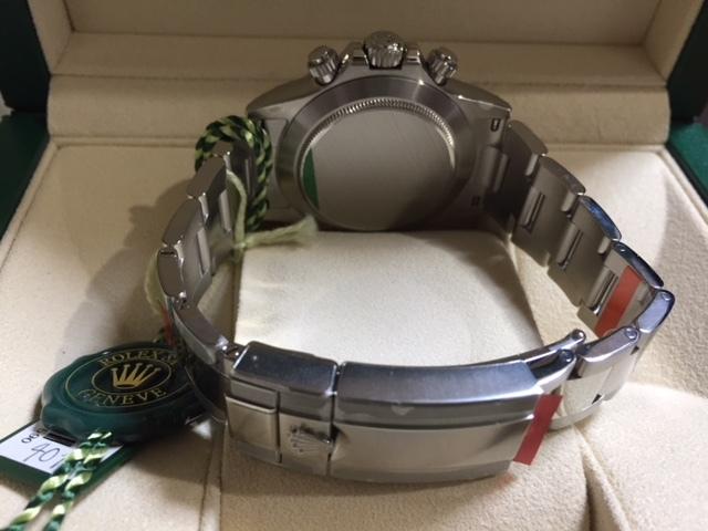 生産終了最終モデル・デイトナ116520・ランダム・黒文字盤-バックル鏡面・保護シール・ベゼルカバー完璧なデットストックです。_画像3