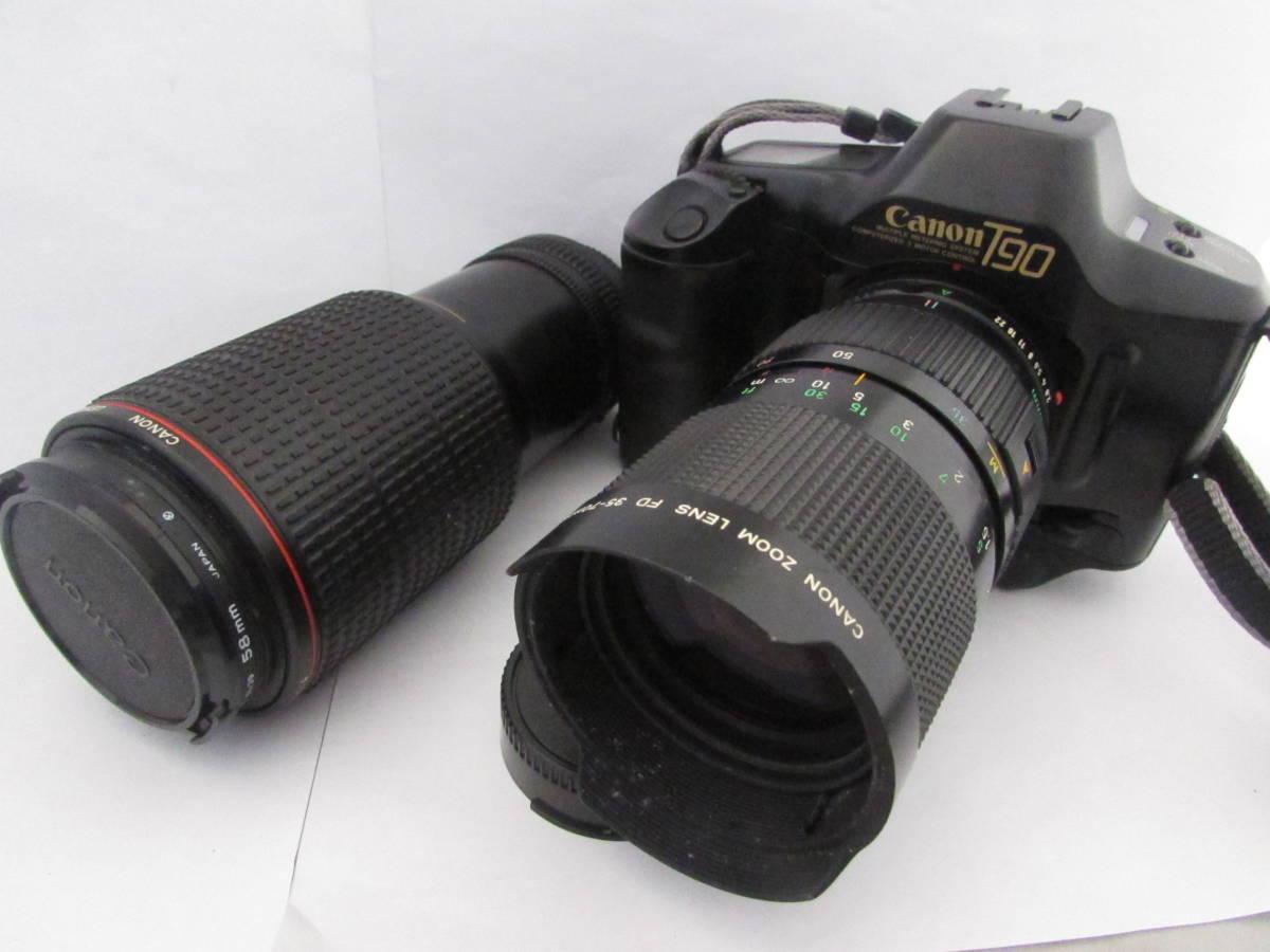 【 Canon  камера  комплект  】Canon T90/ZOOM LENS FD 35-70mm 1:2.8-3.5/80-200mm 1:4L/... идет в комплекте  1 однообъективнай зеркальный   пленка  камера ●