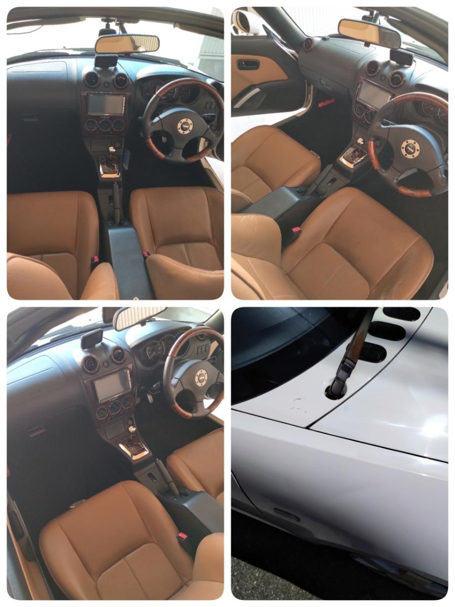 コペン タンレザーエディション ホワイト ダイハツ Gパック HID HDDナビ オープンカー アクティブトップ copen モモステ l880k_画像2