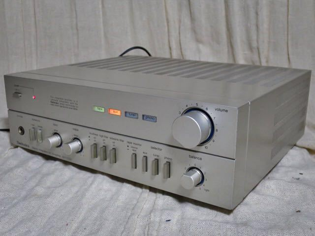 Technics 初代コンサイスコンポ プリメインアンプ SU-C03 動作品 テクニクス 高音質 Panasonic_画像4