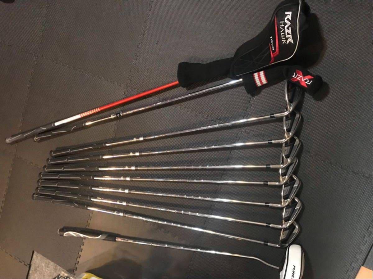 ゴルフクラブセット 2011 キャロウェイ RAZR X アイアンセット RAZR HAWK TOUR 1番ウッド ゴルフバック付_画像2