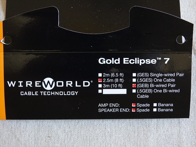 WireWorld バイワイヤ スピーカーケーブル Gold Eclipse 7( GEB7 )2.5m_画像6