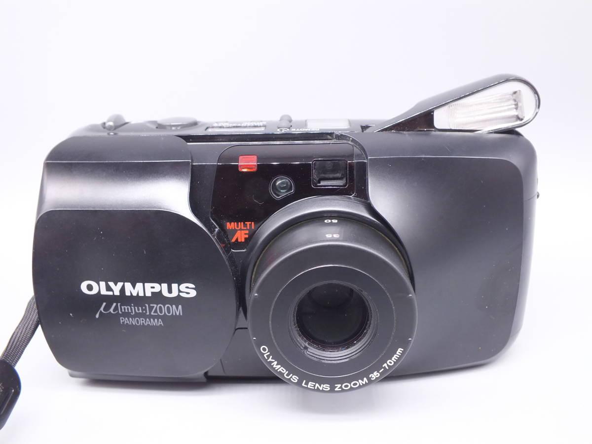OLYMPUS オリンパス/μ【mju:】ZOOM PANORAMA /コンパクトカメラ/ミュー ズーム パノラマ/ 動作品/フィルムカメラ/管E0433