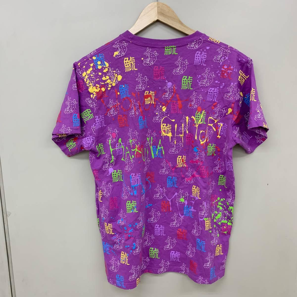 チームしゃちほこ 鯱 総柄 半袖Tシャツ Lサイズ