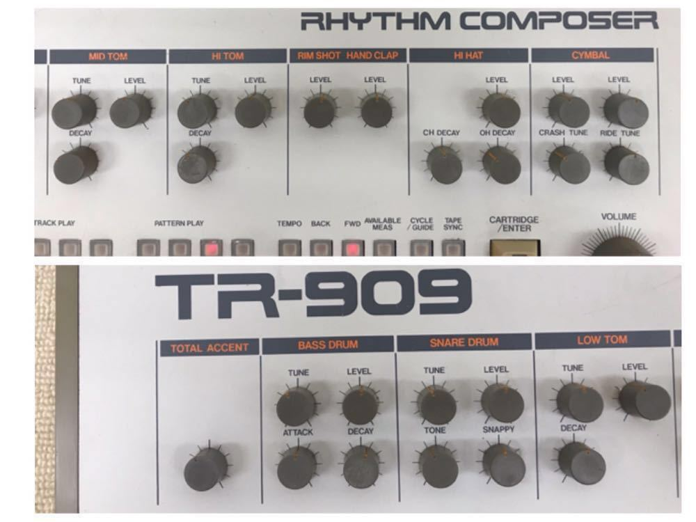 R040806 Roland / TR-909 ローランド S/N 403983 【名機、希少品】後期型 通電OK 動作未確認_画像2