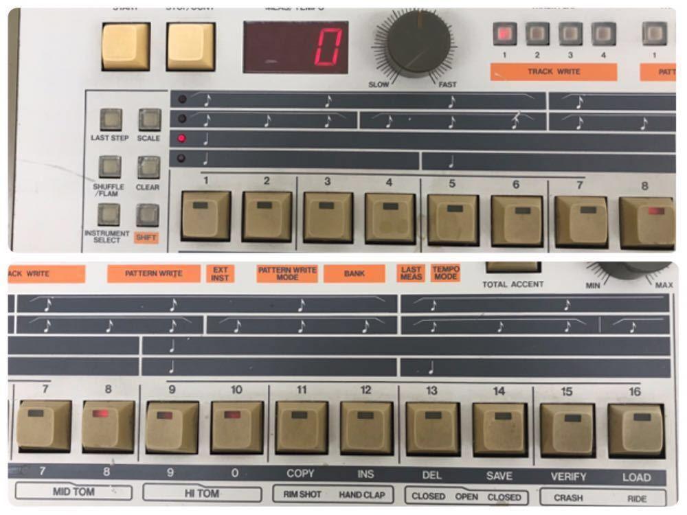 R040806 Roland / TR-909 ローランド S/N 403983 【名機、希少品】後期型 通電OK 動作未確認_画像3