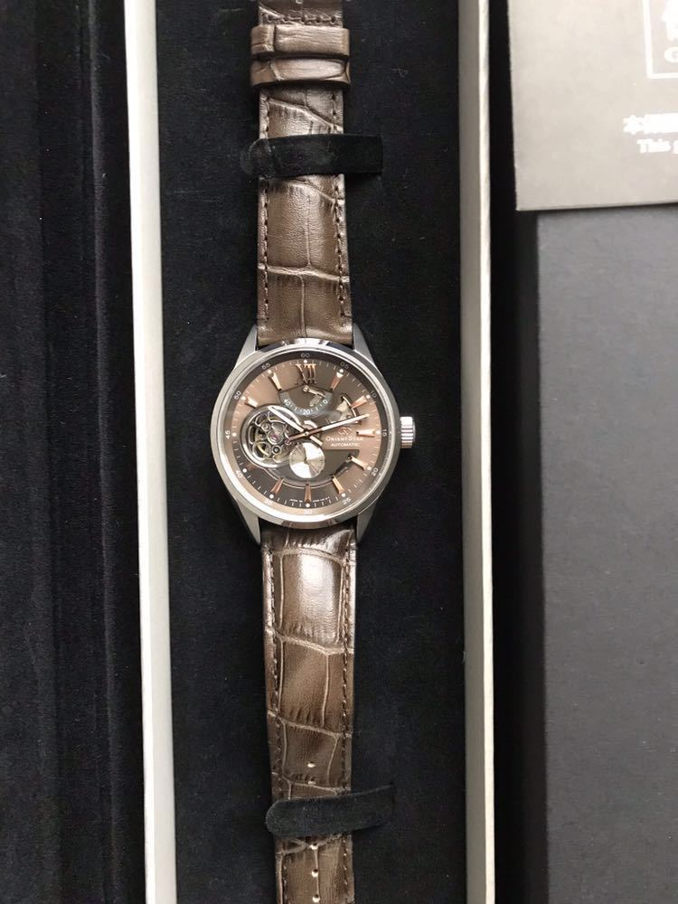 腕時計 ORIENTSTAR オリエント ORIENT 自動巻 機械式 オリエントスター WZ0201DK メンズ モダンスケルトン ブラウン (手巻付き)