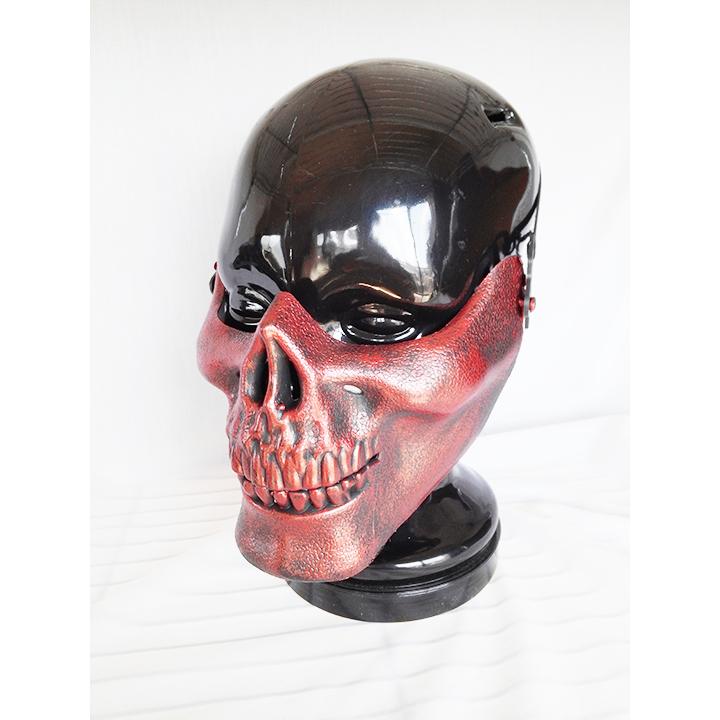 ハーフマスク ガイコツ スカル ハロウィン コスプレ コスプレイヤー マスク お面 1561_画像1
