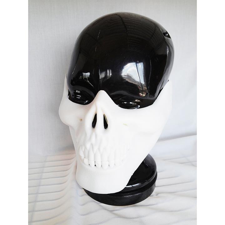 ハーフマスク ガイコツ スカル ハロウィン コスプレ コスプレイヤー マスク お面 1562_画像1