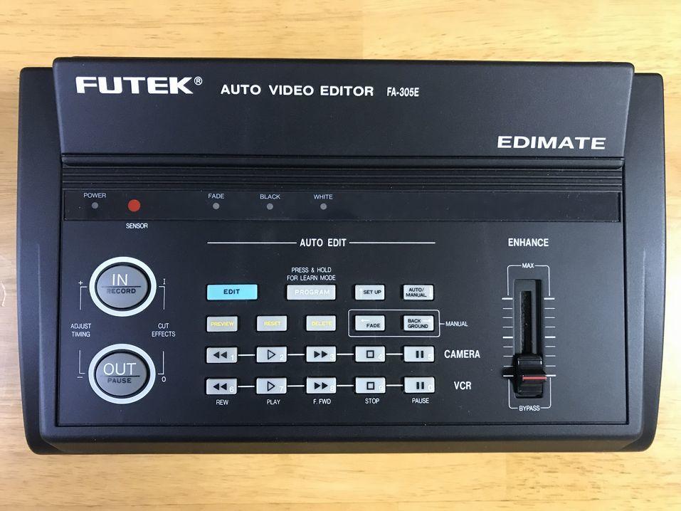 通電OK! FUTEK AUTO VIDEO EDITOR EDIMATE FA-305E(ジャンク相当?)_画像1
