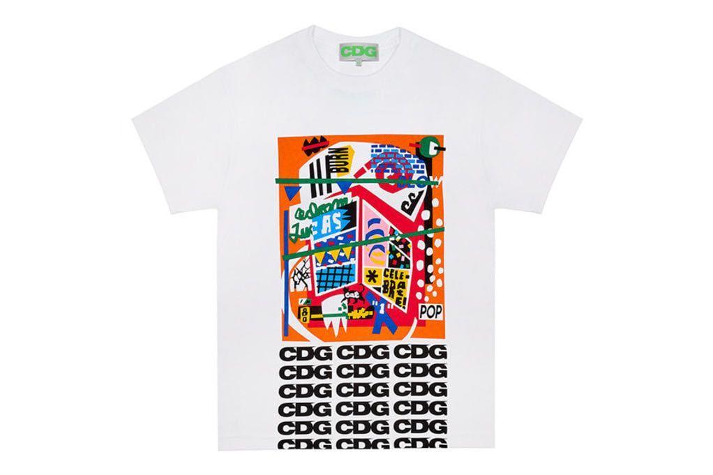 コムデギャルソン CDG BREAKING NEWS ゴールデンウィーク Tシャツ Mサイズ COMME des GARCONS コム デ ギャルソン コム・デ・ギャルソン_画像3