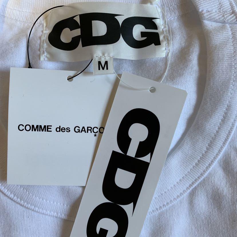 CDG STUSSY Tシャツ 白M COMME des GARCONS コム・デ・ギャルソン コムデギャルソン コム デ ギャルソン ステューシー_画像4