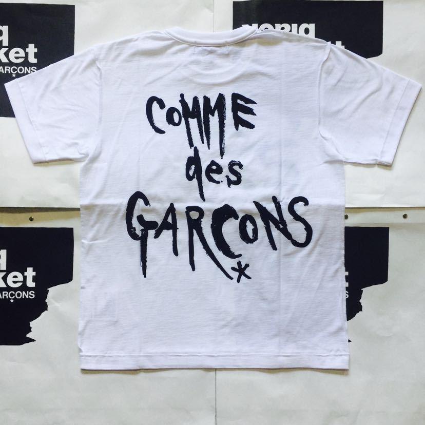 ブラックマーケットコムデギャルソン 白Lサイズ 半袖Tシャツ blackmarket COMME des GARCONS Chic Punk black market ブラック マーケット_画像5
