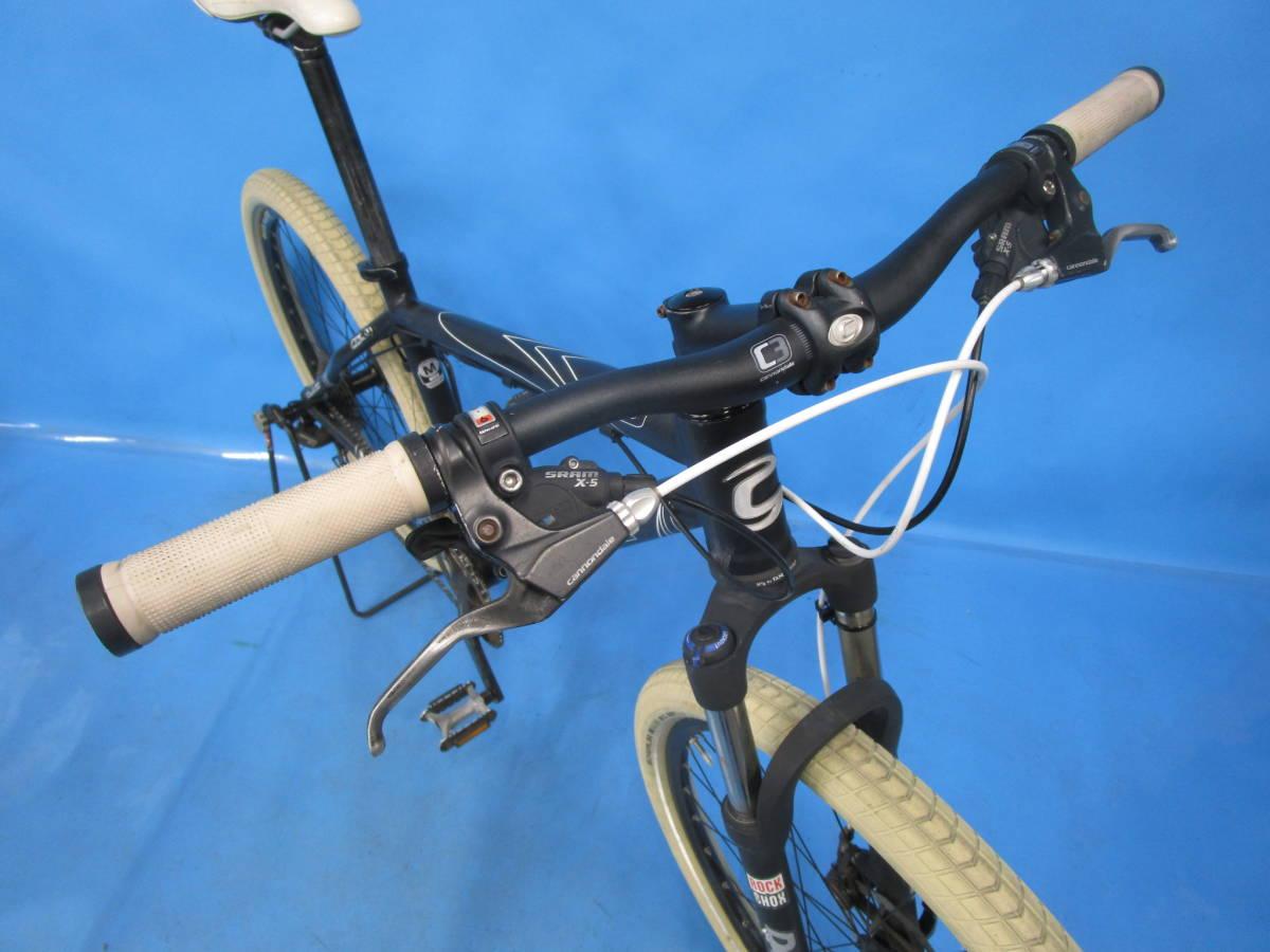 即決 ☆大阪西淀☆ CANNONDALE F5 アルミ マウンテンバイク ディスクブレーキ 26インチ 3×9 キャノンデール SRAM X7 中古 自転車 M04_画像3