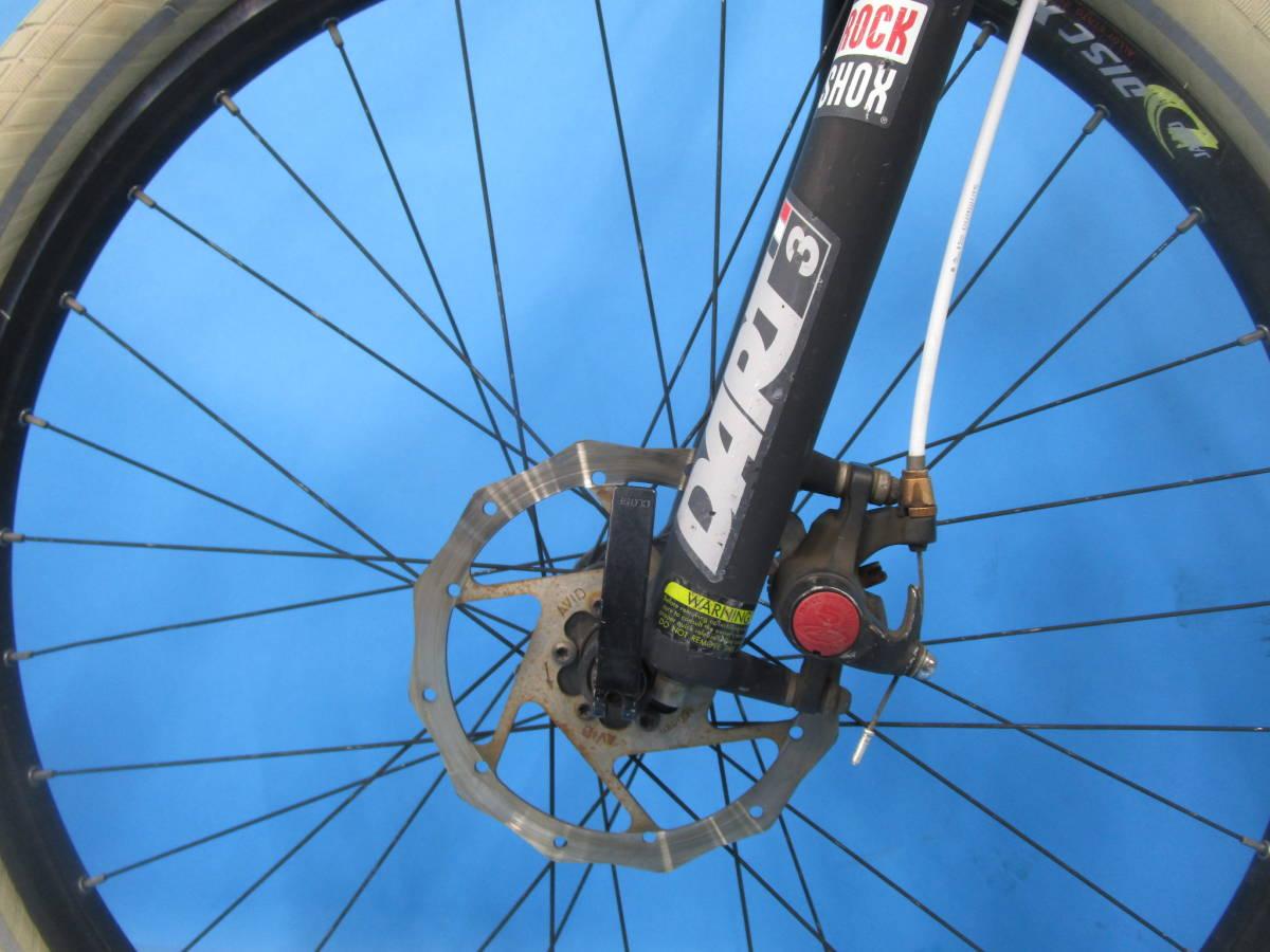 即決 ☆大阪西淀☆ CANNONDALE F5 アルミ マウンテンバイク ディスクブレーキ 26インチ 3×9 キャノンデール SRAM X7 中古 自転車 M04_画像7
