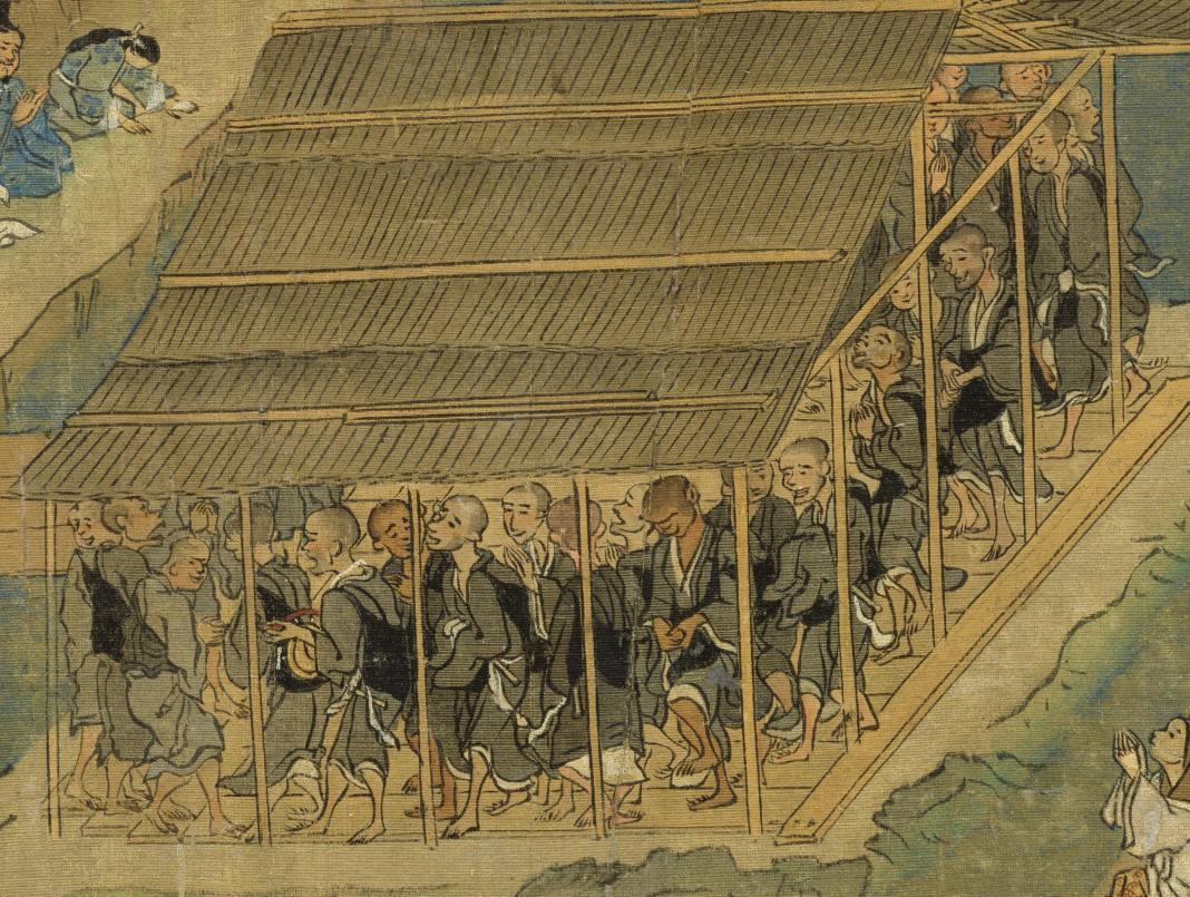国宝美術 遊行上人 時代物 【一遍聖絵または、伝巻】旧藏 掛軸 ・手巻・_画像7