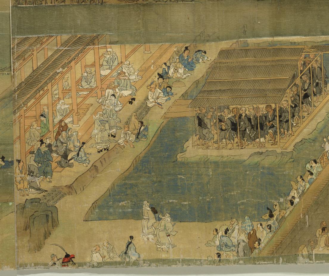 国宝美術 遊行上人 時代物 【一遍聖絵または、伝巻】旧藏 掛軸 ・手巻・_画像2