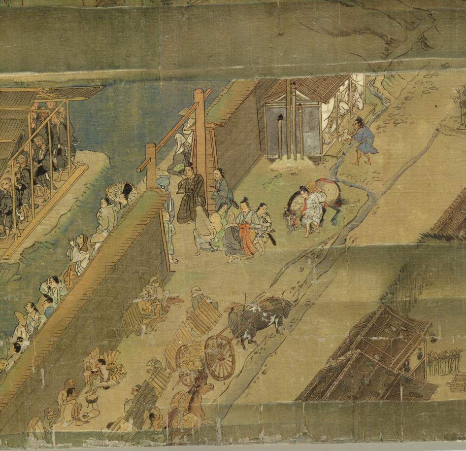国宝美術 遊行上人 時代物 【一遍聖絵または、伝巻】旧藏 掛軸 ・手巻・_画像3