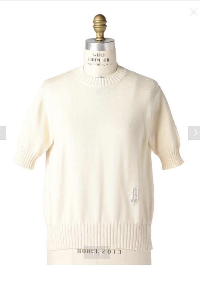 ドゥロワー 今期新品完売商品ビーズ刺繍ニット オフホワイト