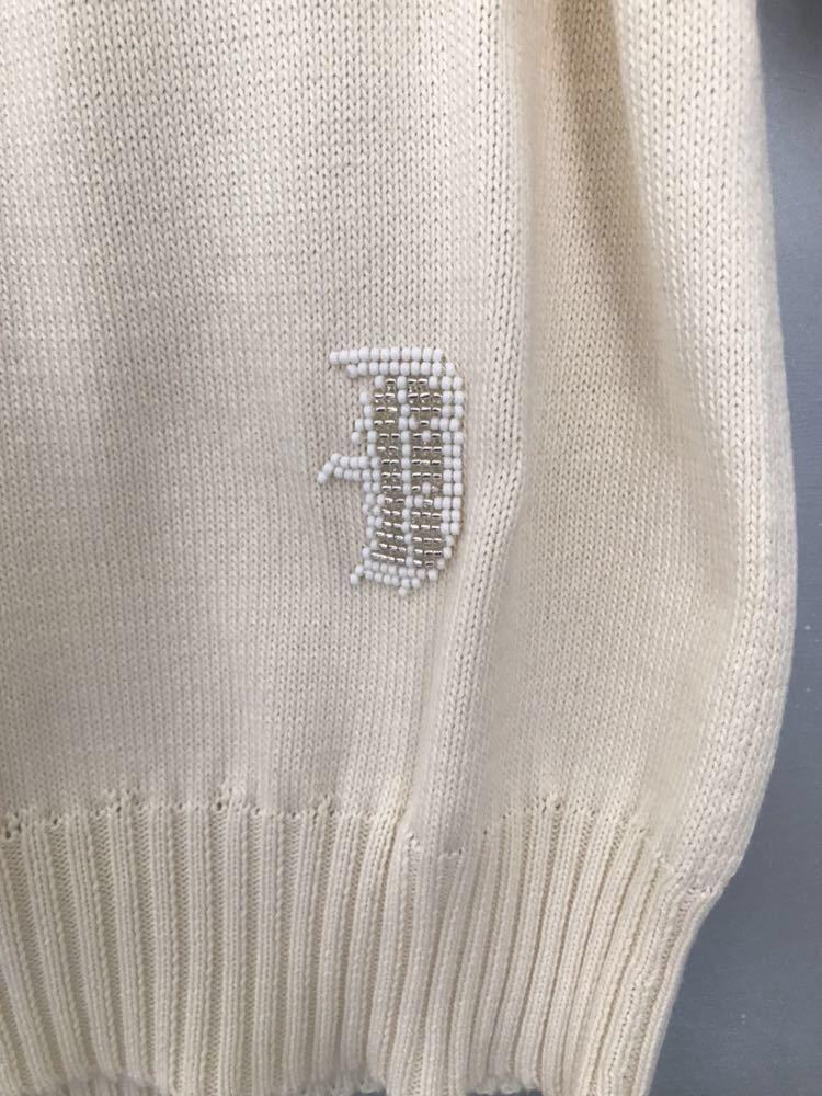 ドゥロワー 今期新品完売商品ビーズ刺繍ニット オフホワイト _画像3