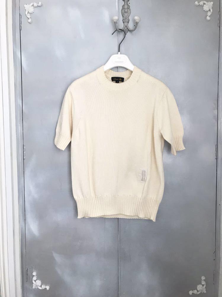 ドゥロワー 今期新品完売商品ビーズ刺繍ニット オフホワイト _画像2