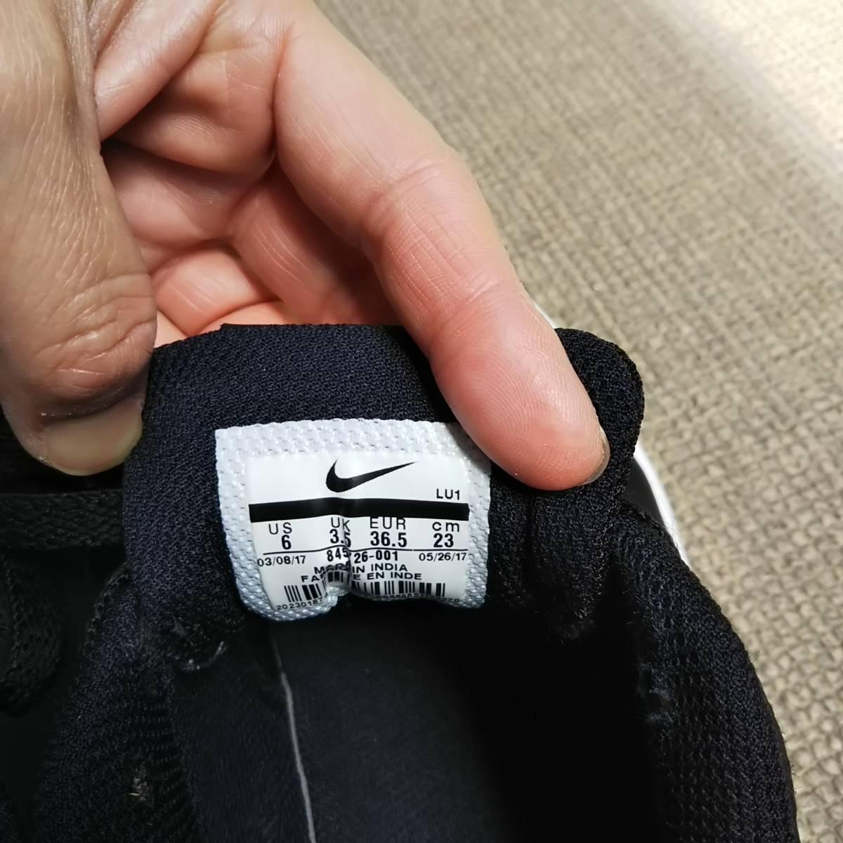 美品☆ナイキ ローカットスニーカー ブラック23センチ 運動靴 フォーマルにも○ 22 22.5 23 23.5_画像4