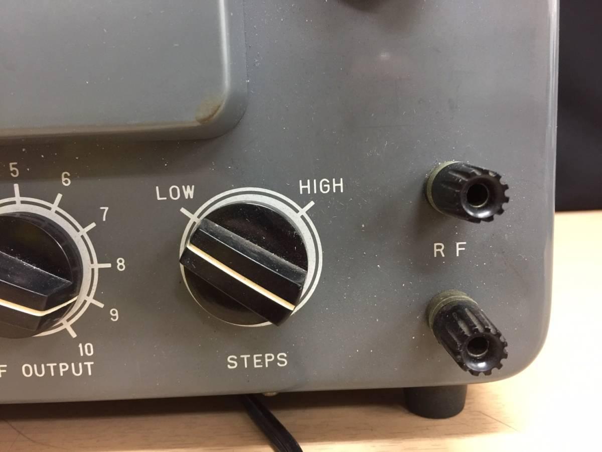 カ 丸2買取本舗 甲:RF SIGNAL GENERATOR MODEL SG-2 JRIO 通電確認のみ動作未確認_画像2
