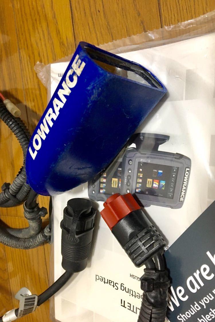 LOWRANCE ローランス 魚探 エリート7ti 国内正規購入品 日本語版 中古_画像6