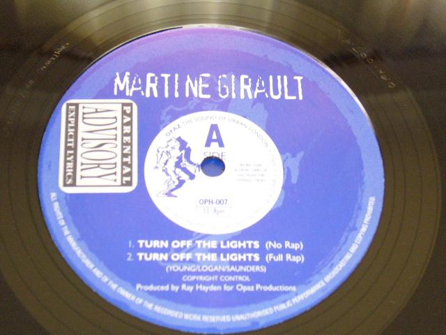 MARTINE GIRAULT / TURN OFF THE LIGHTS / 1997年盤 / OPH-007 / UK盤 / 試聴検査済み_画像3