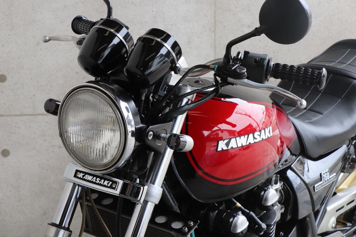 横浜~ Kawasaki ゼファー750 C2 旧車 Z2ブラック火の玉 ニューペイント 好調_画像9
