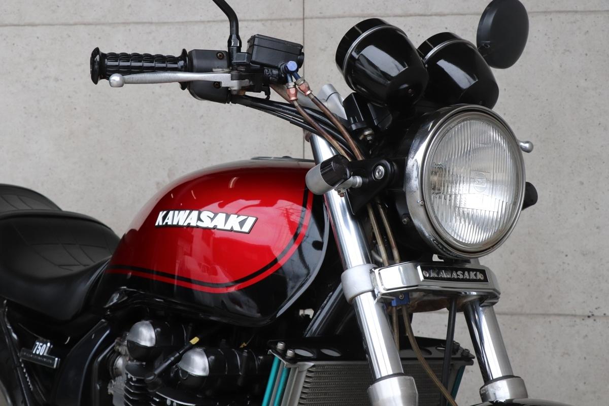 横浜~ Kawasaki ゼファー750 C2 旧車 Z2ブラック火の玉 ニューペイント 好調_画像4