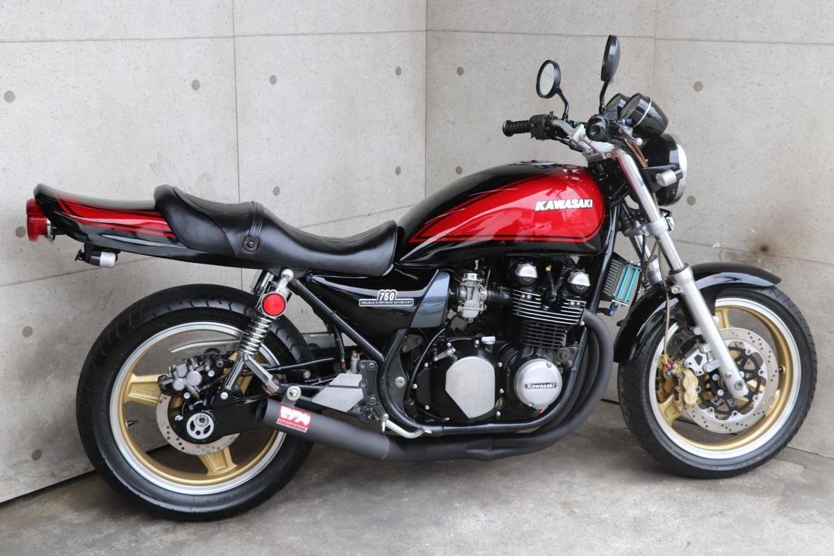 横浜~ Kawasaki ゼファー750 C2 旧車 Z2ブラック火の玉 ニューペイント 好調_画像10