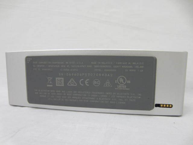 BOSE ボーズ 【SoundLink MiniⅡ】 サウンドリンクミニ2 Bluetoothスピーカー 音出し確認済 中古品 シルバー 説明書あり_画像6