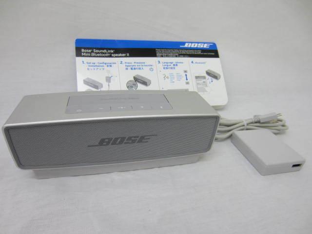 BOSE ボーズ 【SoundLink MiniⅡ】 サウンドリンクミニ2 Bluetoothスピーカー 音出し確認済 中古品 シルバー 説明書あり