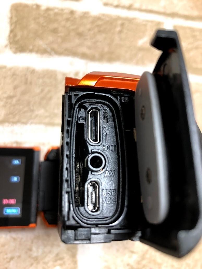 JVC/ビクター Everio 防水 防塵 ハイビジョンメモリームービー GZ-R300-D 現状中古 ジャンク扱い品(A489)_画像9
