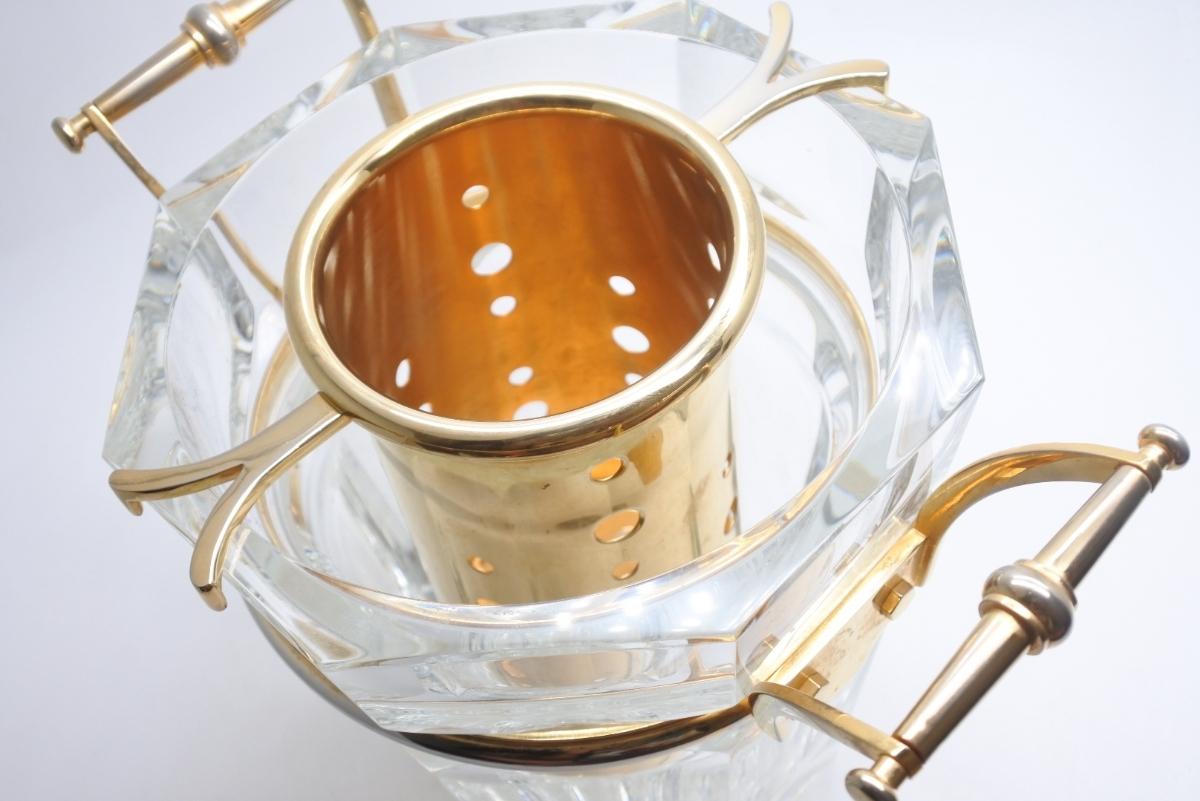 Baccarat バカラ クリスタルガラス シャンパンバケット ムーランルージュ シャンパンクーラー 定価691200円 中古 美品 正規品_画像7