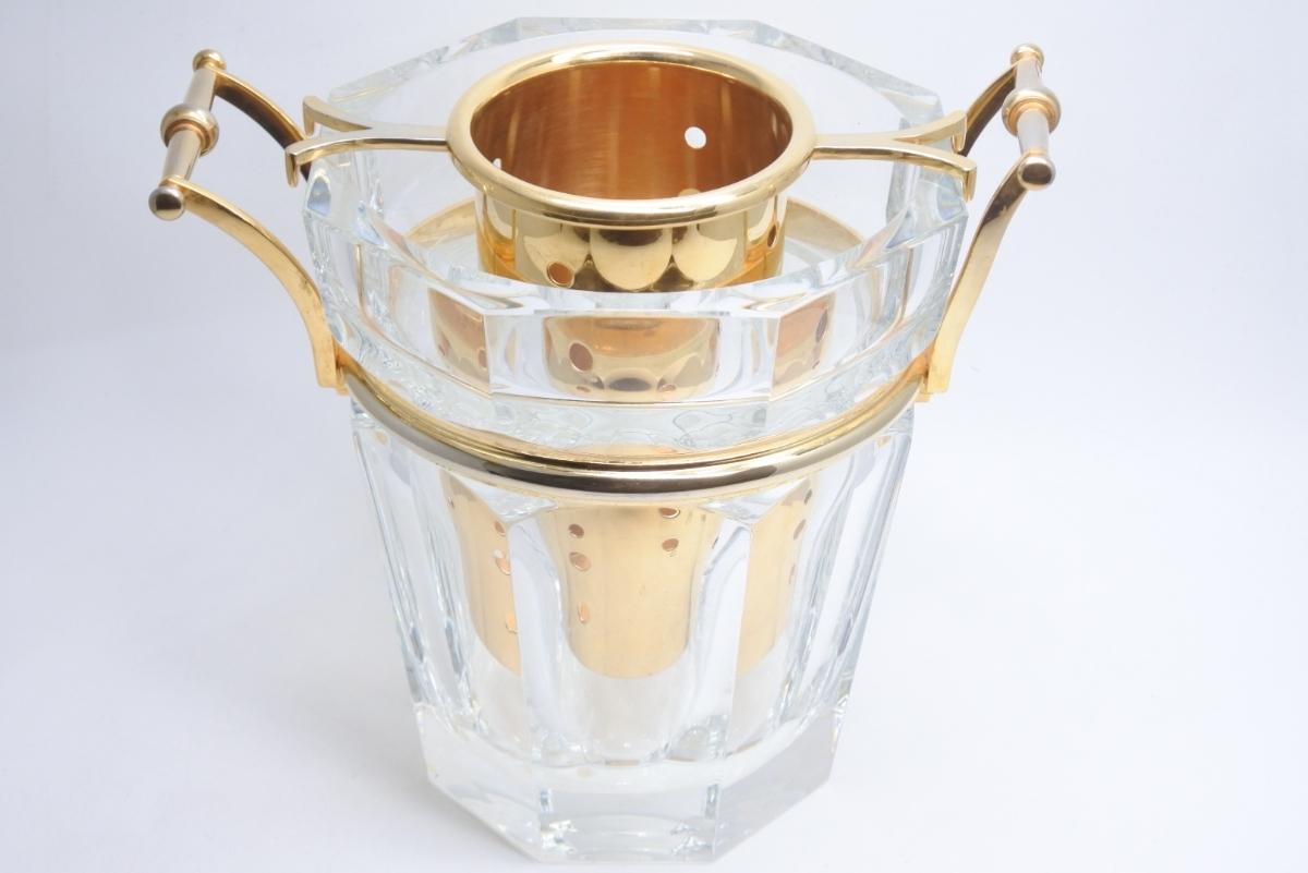 Baccarat バカラ クリスタルガラス シャンパンバケット ムーランルージュ シャンパンクーラー 定価691200円 中古 美品 正規品_画像2