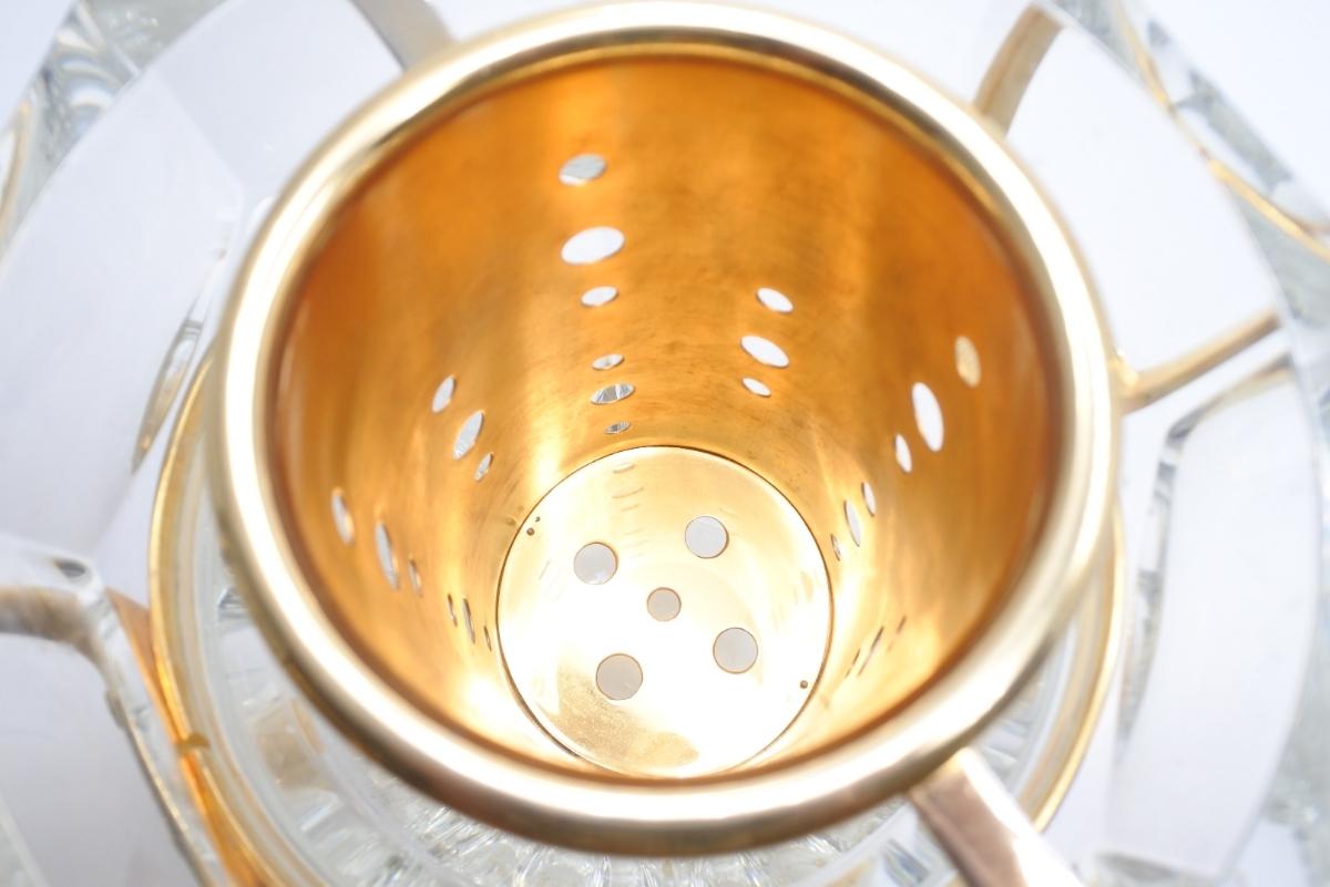 Baccarat バカラ クリスタルガラス シャンパンバケット ムーランルージュ シャンパンクーラー 定価691200円 中古 美品 正規品_画像8