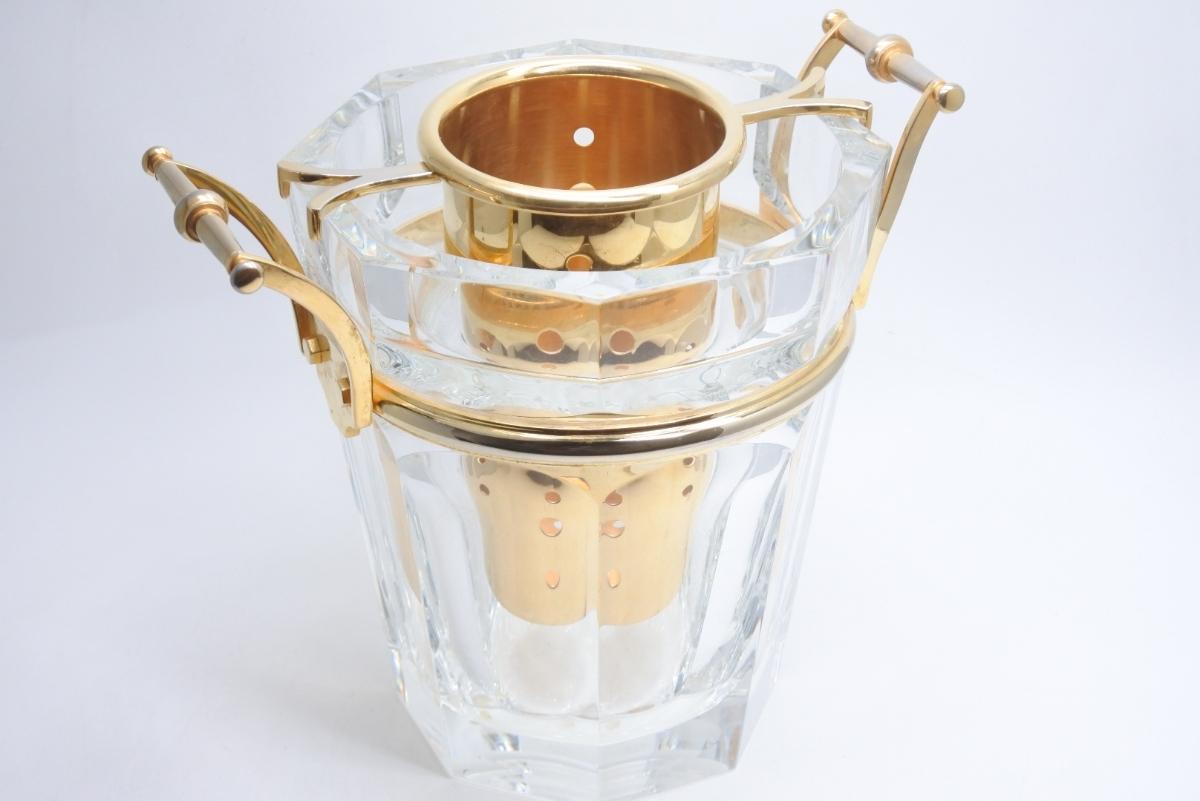 Baccarat バカラ クリスタルガラス シャンパンバケット ムーランルージュ シャンパンクーラー 定価691200円 中古 美品 正規品_画像4