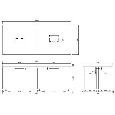 OA ミーティングテーブル ナチュラル(中古) 会議テーブル 作業台_画像2