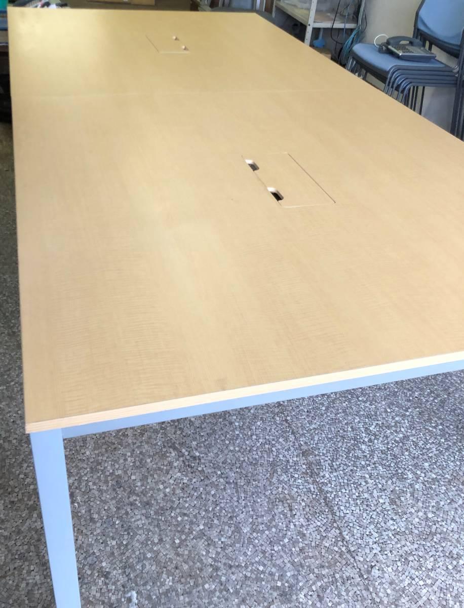 OA ミーティングテーブル ナチュラル(中古) 会議テーブル 作業台_画像4