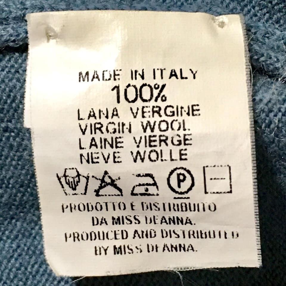 Martin Margiela マルタンマルジェラ⑩ニット セーター MISS DEANNA ミスディアナ 初期 90年代 アーカイブ ヴィンテージ MADE IN ITALY_画像4