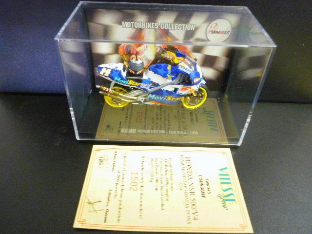 1/24 レプソル モヴィスター ホンダ NSR500 MoviStar REPSOL HONDA NSR #14 1999  ★Juan Borja ヘルメット付き_画像8
