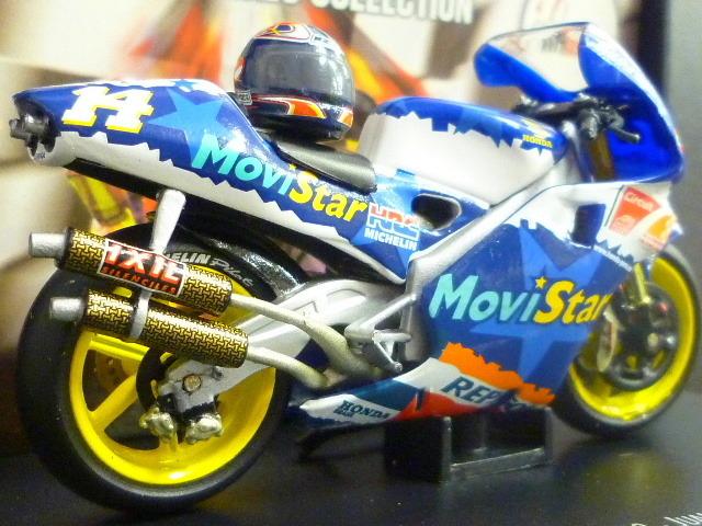 1/24 レプソル モヴィスター ホンダ NSR500 MoviStar REPSOL HONDA NSR #14 1999  ★Juan Borja ヘルメット付き_画像6
