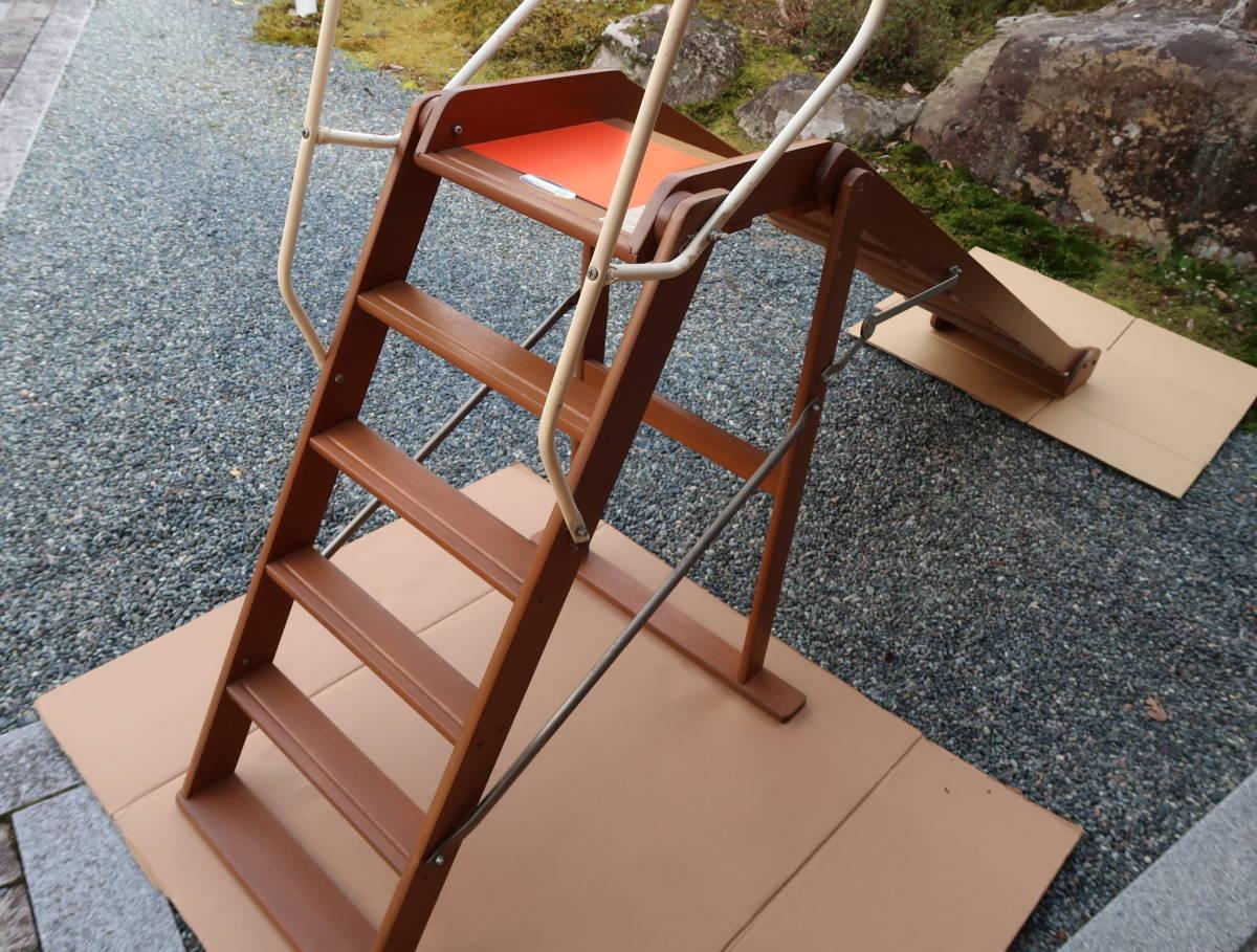 木製 レトロ 滑り台  長期保管中古品_画像4