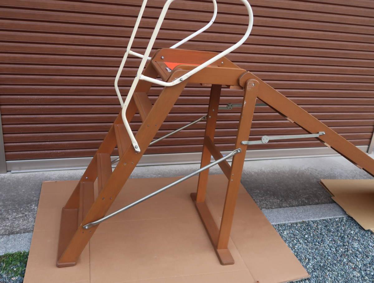 木製 レトロ 滑り台  長期保管中古品_画像6
