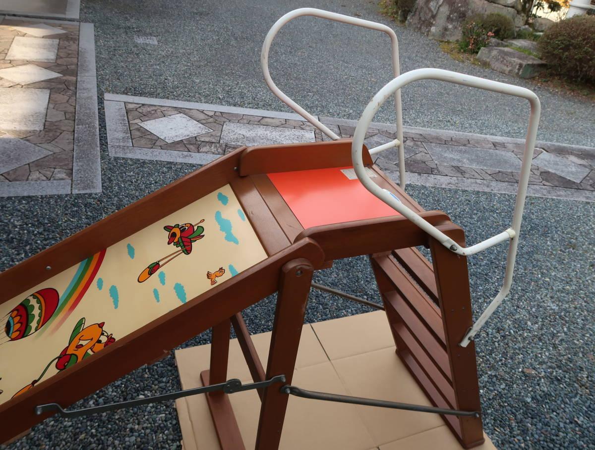 木製 レトロ 滑り台  長期保管中古品_画像9