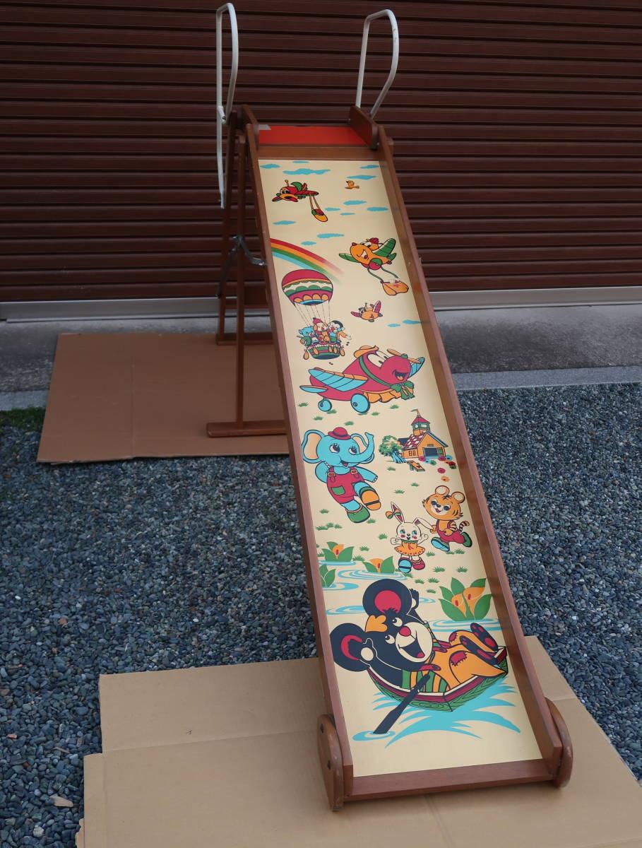 木製 レトロ 滑り台  長期保管中古品_画像3