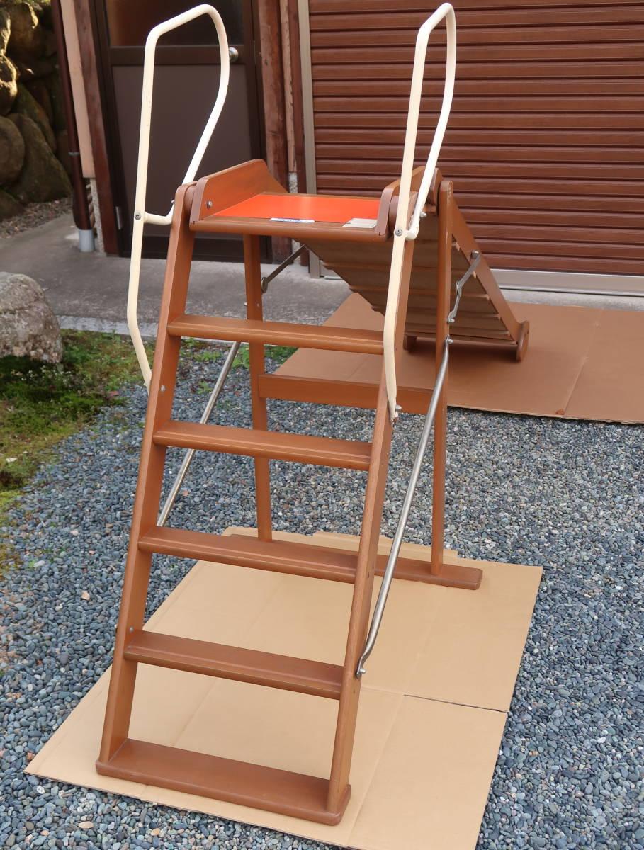 木製 レトロ 滑り台  長期保管中古品_画像5